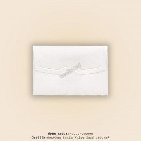6x9cm Satin White Zarf 160gr/m²