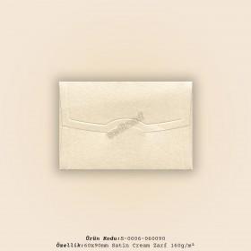 6x9cm Satin Cream Zarf 160gr/m²