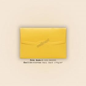 6x9cm Sarı Mat Kuşe Zarf 170gr/m² (Boyama)