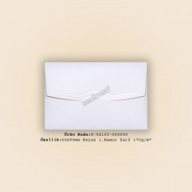 6x9cm Beyaz 1.Hamur Zarf 160gr/m²