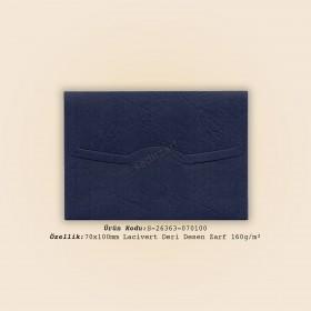 7x10cm Lacivert Deri Desen Zarf 160gr/m²