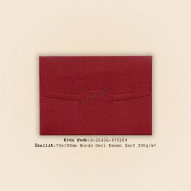 7x10cm Bordo Deri Desen Zarf 250gr/m²