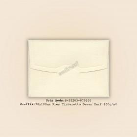 7x10cm Krem Tinteretto Desen Zarf 160gr/m²
