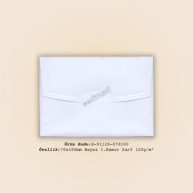 7x10cm Beyaz 1.Hamur Zarf 120gr/m²