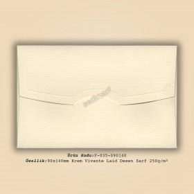 9x14cm Krem Vivante Laid Desen Zarf 250gr/m²