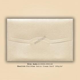 9x14cm Satin Cream Zarf 160gr/m²