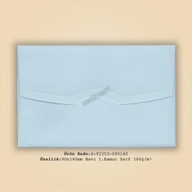 9x14cm Mavi 1.Hamur Zarf 160gr/m²