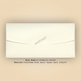 10x20cm Krem Zenit Zarf 230gr/m²