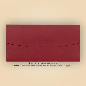 10x20cm Bordo Keten Desen Zarf 220gr/m²