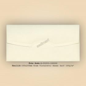 10x20cm Krem Tinteretto Desen Zarf 160gr/m²