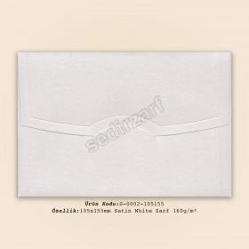10,5x15,5cm Satin White Zarf 160gr/m²