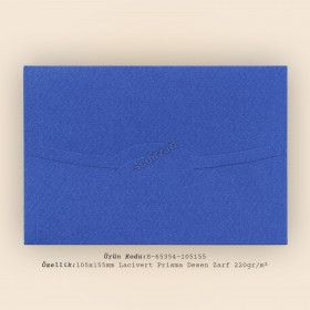 10,5x15,5cm Lacivert Prisma Desen Zarf - 220gr/m²