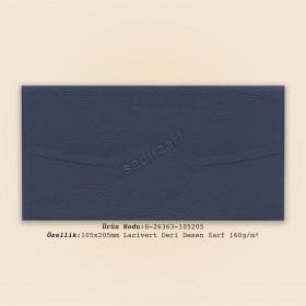 10,5x20,5cm Lacivert Deri Desen Zarf 160gr/m²
