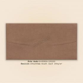 10,5x20,5cm Kraft Zarf 200gr/m²