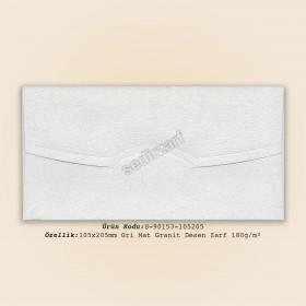 10,5x20,5cm Gri Mat Granit Desen Zarf 180gr/m²