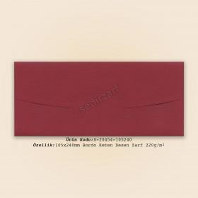 10,5x24cm Bordo Keten Desen Zarf 220gr/m²
