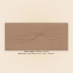 10,5x24cm Kraft Zarf 200gr/m²