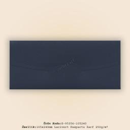 10,5x24cm Lacivert Paspartu Zarf 250gr/m²