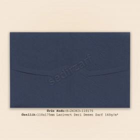 11x17,5cm Lacivert Deri Desen Zarf 160gr/m²