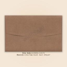 11x17,5cm Kraft Zarf 200gr/m²