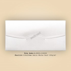 11x22cm Satin White Zarf 250gr/m²