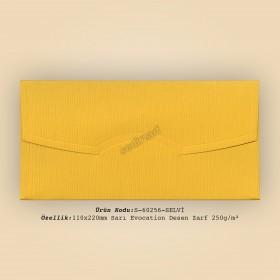 11x22cm Sarı Evocation Desen Zarf 250gr/m²