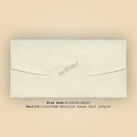 11x22cm Ekolojik Yosun Zarf 250gr/m²