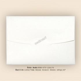 12x17cm Beyaz Granit Desen Zarf 280gr/m²