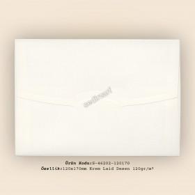 12x17cm Krem Laid Desen Zarf 120gr/m²