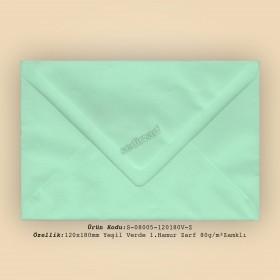 12x18cm Yeşil Verde 1.Hamur Zarf 80gr/m² Zamklı