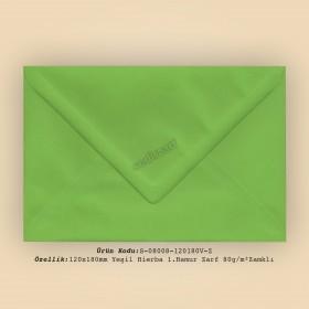 12x18cm Yeşil Hierba 1.Hamur Zarf 80gr/m² Zamklı
