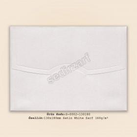 13x18cm Satin White Zarf 160gr/m²