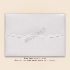 13x18cm Satin White Zarf 250gr/m²