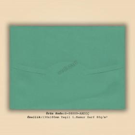 13x18cm Yeşil 1.Hamur Zarf 80gr/m²