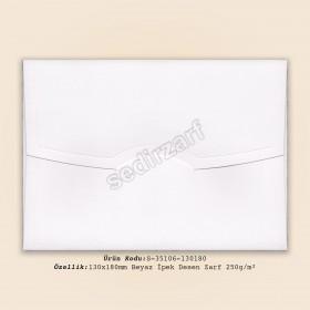 13x18cm Beyaz İpek Desen Zarf 250gr/m²