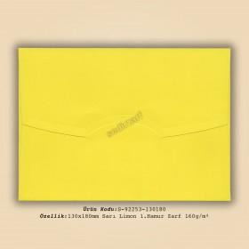 13x18cm Sarı Limon 1.Hamur Zarf 160gr/m²
