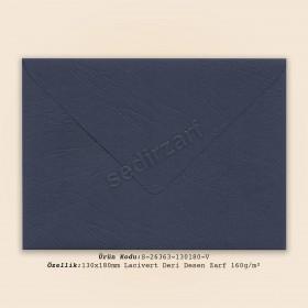 13x18cm Lacivert Deri Desen Zarf 160gr/m²