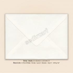 13x18cm Krem Laid Desen Zarf 120gr/m²