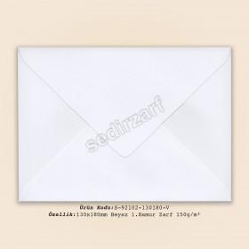 13x18cm Beyaz 1.Hamur Zarf 150gr/m²