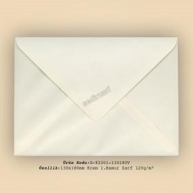 13x18cm Krem 1.Hamur Zarf 120gr/m²