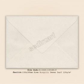 13x18cm Krem Kırçıllı  Desen Zarf 120gr/m²