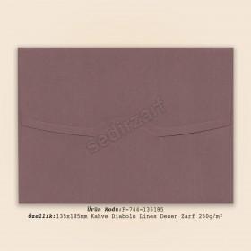 13.5x18.5cm Kahve Diabolo Lines Zarf 250gr/m²