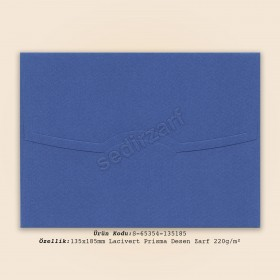 13,5x18,5cm Lacivert Prisma Desen Zarf 220gr/m²