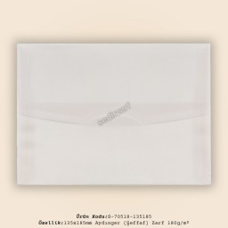 13,5x18,5cm Aydınger Zarf 180gr/m²
