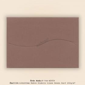 14x20cm Kahve Diabolo Lines Zarf 250gr/m²