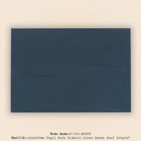 14x20cm Yeşil Diabolo Lines Desen Zarf 250gr/m²