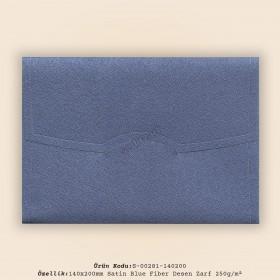 14x20cm Satin Blue Fiber Desen Zarf 250gr/m²