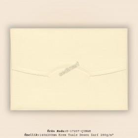 14x20cm Krem Tuale Desen Zarf 280gr/m²