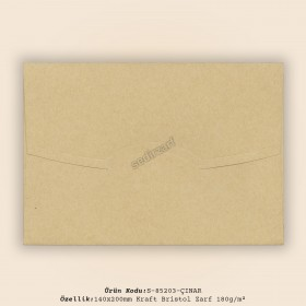 14x20cm Kraft Bristol Zarf 180gr/m²