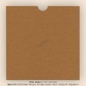 15x15cm Tarçın Prisma Desen Zarf 220gr/m² Kapaksız